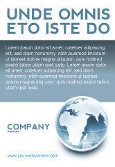 Global: Plantilla de publicidad - mundo cristalino #02876