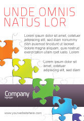 Business Concepts: Fancy Jigsaw Ad Template #02895