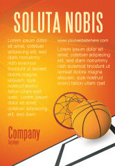 Sports: Basketbal Advertentie Template #02904