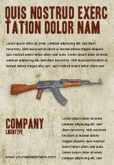 Military: Kalashnikov Ad Template #02934
