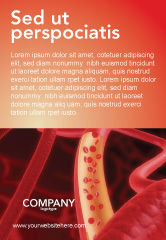 Medical: Red Blood Cells Ad Template #02953