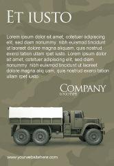 Military: Templat Periklanan Truk Militer #02962