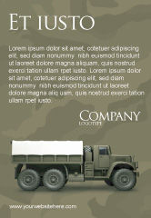 Military: 軍用トラック - 広告テンプレート #02962