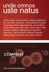 Medical: Red Corpuscles Ad Template #03014