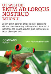 Agriculture and Animals: Toad Ad Template #03024