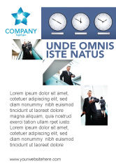 Business: Uren Gratis Advertentie Template #03050