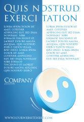 Religious/Spiritual: Plantilla de publicidad - yin yang azul #03073