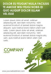 Nature & Environment: Green Tree On Light Olive Background Ad Template #03109