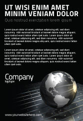 Global: Globe Of Staal Advertentie Template #03141