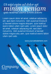 Military: Aviation Parade Ad Template #03150