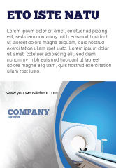Medical: Tomography Machine Ad Template #03151