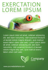 Agriculture and Animals: Tropical Green Frog Ad Template #03160