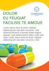 Medical: Modèle de Publicité de pilules colorées #03191