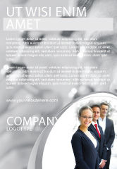 Careers/Industry: Business Teamwork Ad Template #03228