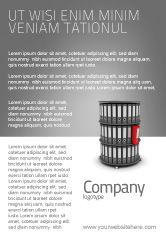 Business Concepts: Plantilla de publicidad - estante de estuche de papel #03253