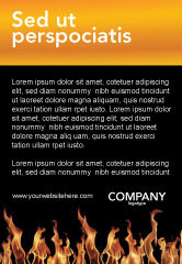Abstract/Textures: Fire Ad Template #03282