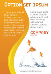 Agriculture and Animals: Jumping Goldfish Ad Template #03286
