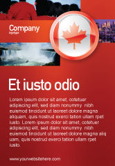 Flags/International: Canada Teken Advertentie Template #03308