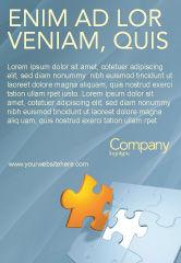 Business Concepts: Stück puzzle Anzeigenvorlage #03338