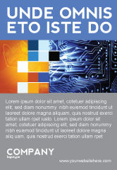 Technology, Science & Computers: Modèle de Publicité de circuit imprimé #03422