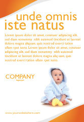People: Little Baby Ad Template #03426