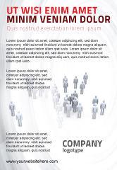 Business Concepts: Plantilla de publicidad - multitud de personas #03496