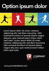 Sports: 棒球蝙蝠击中广告模板 #03612