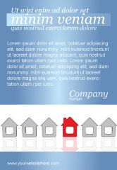 Construction: Typical House Of Suburban Icon Ad Template #03620