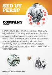 Financial/Accounting: Dollar Safe Ad Template #03638