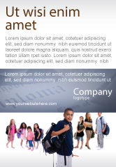 People: Secondary Schoolboy Ad Template #03662