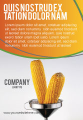 Careers/Industry: Corn Oil Ad Template #03664