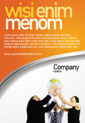 Business Concepts: Templat Periklanan Kemitraan Global #03682