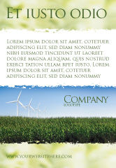 Nature & Environment: Wind Mills Ad Template #03715
