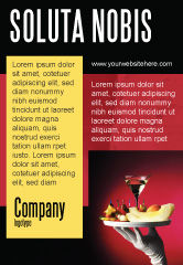 Careers/Industry: Snacks and Cocktail Ad Template #03722