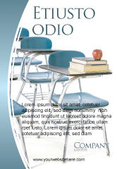 Education & Training: School Desk In A Classroom Ad Template #03727