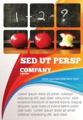 Education & Training: Plantilla de publicidad - aritmética en la escuela #03728