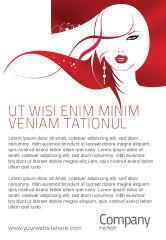 Careers/Industry: Plantilla de publicidad - chica glamour #03744