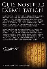 Religious/Spiritual: Egyptian Hieroglyphs Ad Template #03864