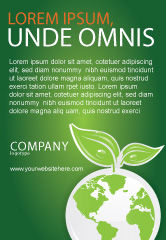 Nature & Environment: Green Planet Ad Template #03867