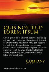 Nature & Environment: Plantilla de publicidad - puesta de sol #03871