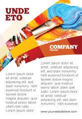 Art & Entertainment: Modelo de Anúncio - pintura a óleo #03873