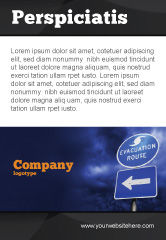 Nature & Environment: Evacuation Route Ad Template #03908