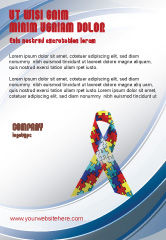 Religious/Spiritual: Autism Awareness Ribbon Ad Template #03914