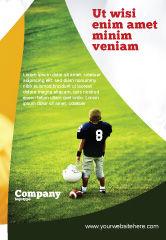 Sports: 광고 템플릿 - 학교에서 미식 축구 #03952