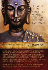 Religious/Spiritual: 광고 템플릿 - 명상중인 부처님 #03973