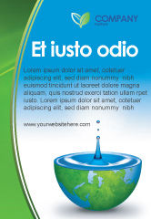 Nature & Environment: Blue Water Of A Green Planet Ad Template #03986
