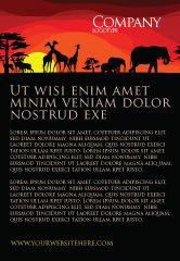 Nature & Environment: サバンナの夕暮れ - 広告テンプレート #04012