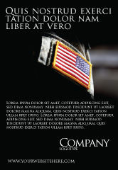 Military: American Armed Forces Ad Template #04026