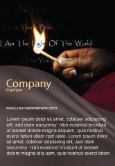 Religious/Spiritual: Plantilla de publicidad - soy la luz del mundo #04034