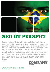 Flags/International: Face Of Brazil Ad Template #04059